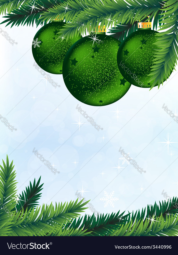Christmas tree and decorations vector | Price: 3 Credit (USD $3)