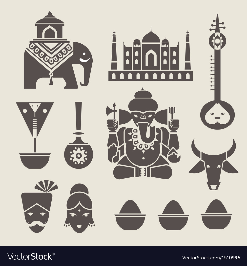 Indian icons vector | Price: 3 Credit (USD $3)