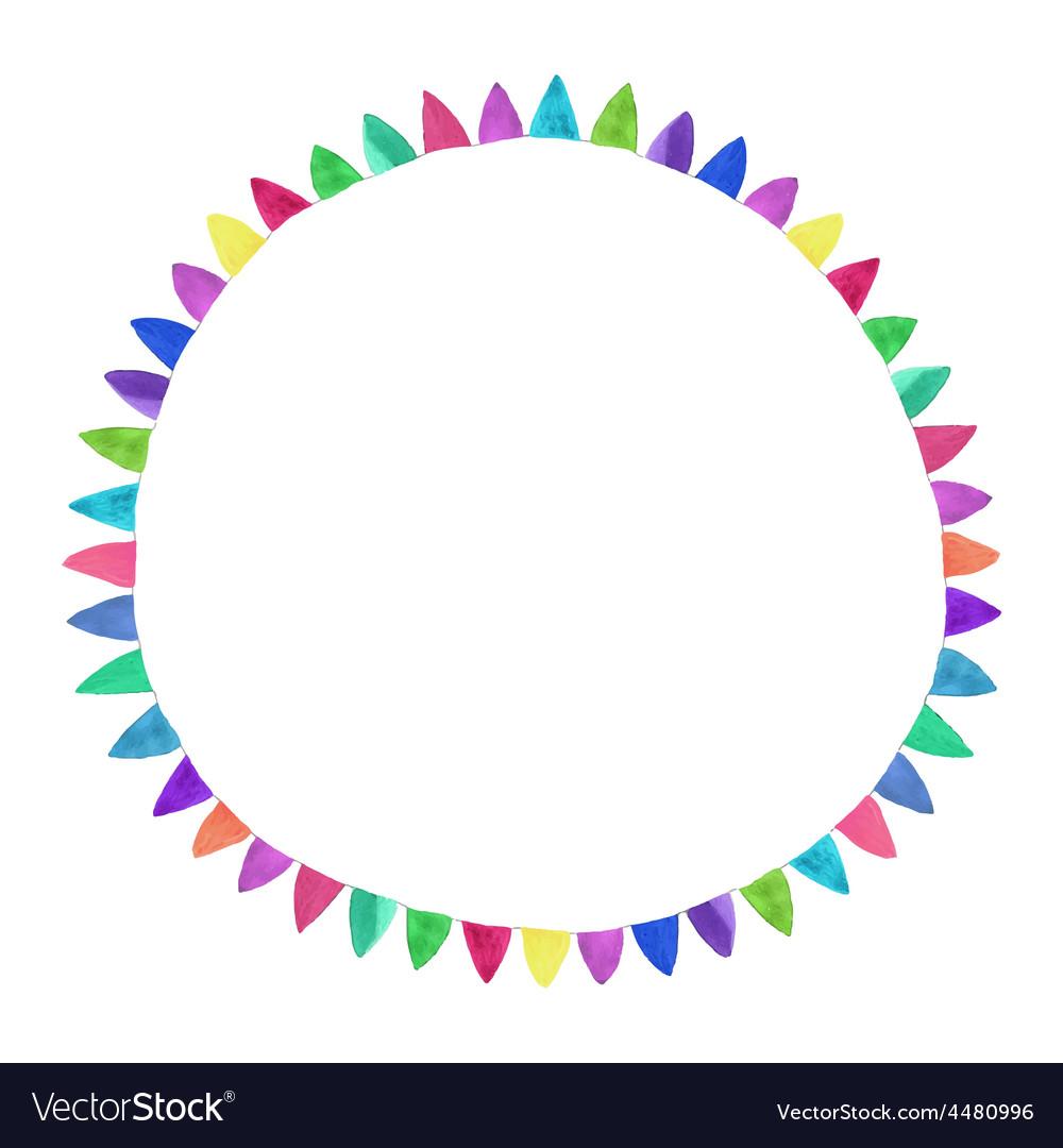Multicolored bright circle watercolor concept on vector   Price: 1 Credit (USD $1)