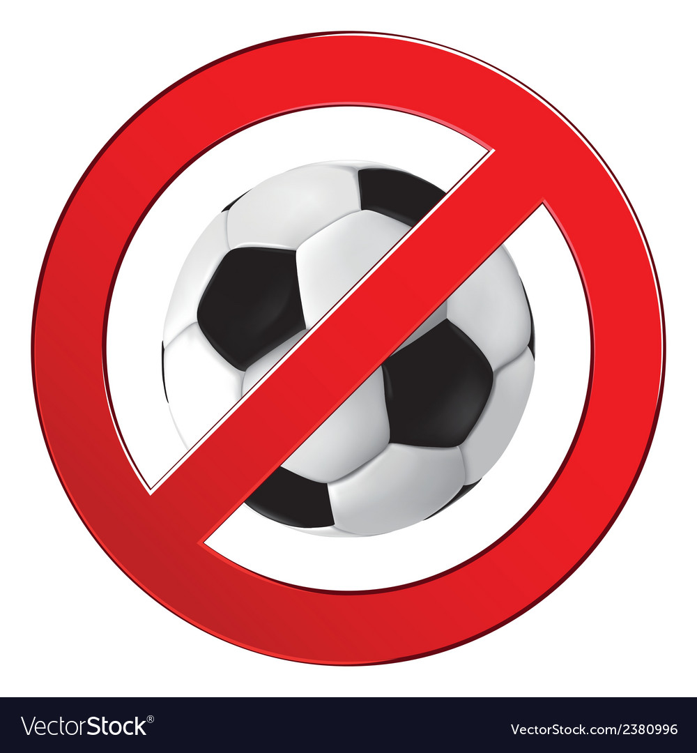 No ball games football soccer vector | Price: 1 Credit (USD $1)