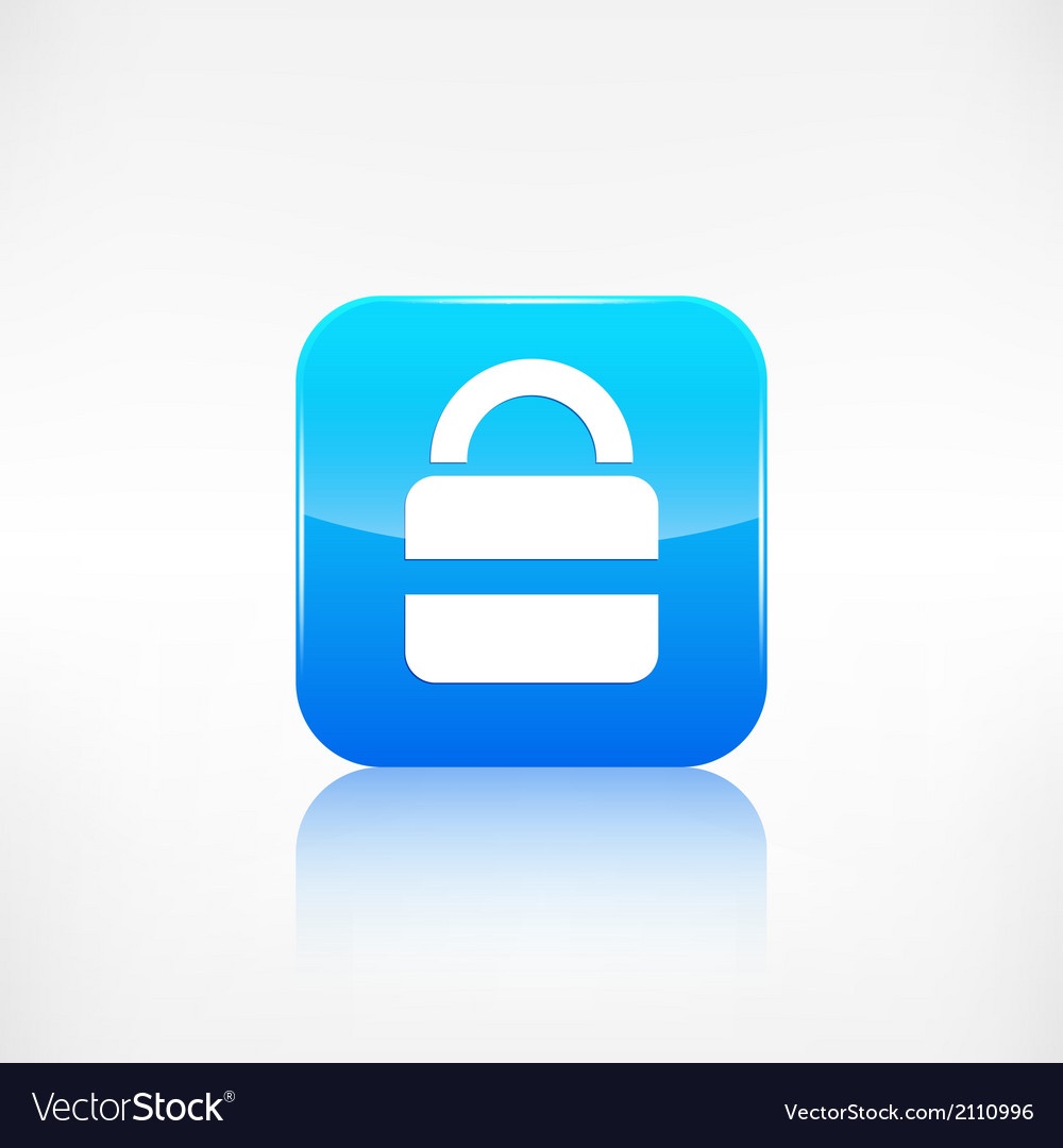 Padlock web icon vector | Price: 1 Credit (USD $1)