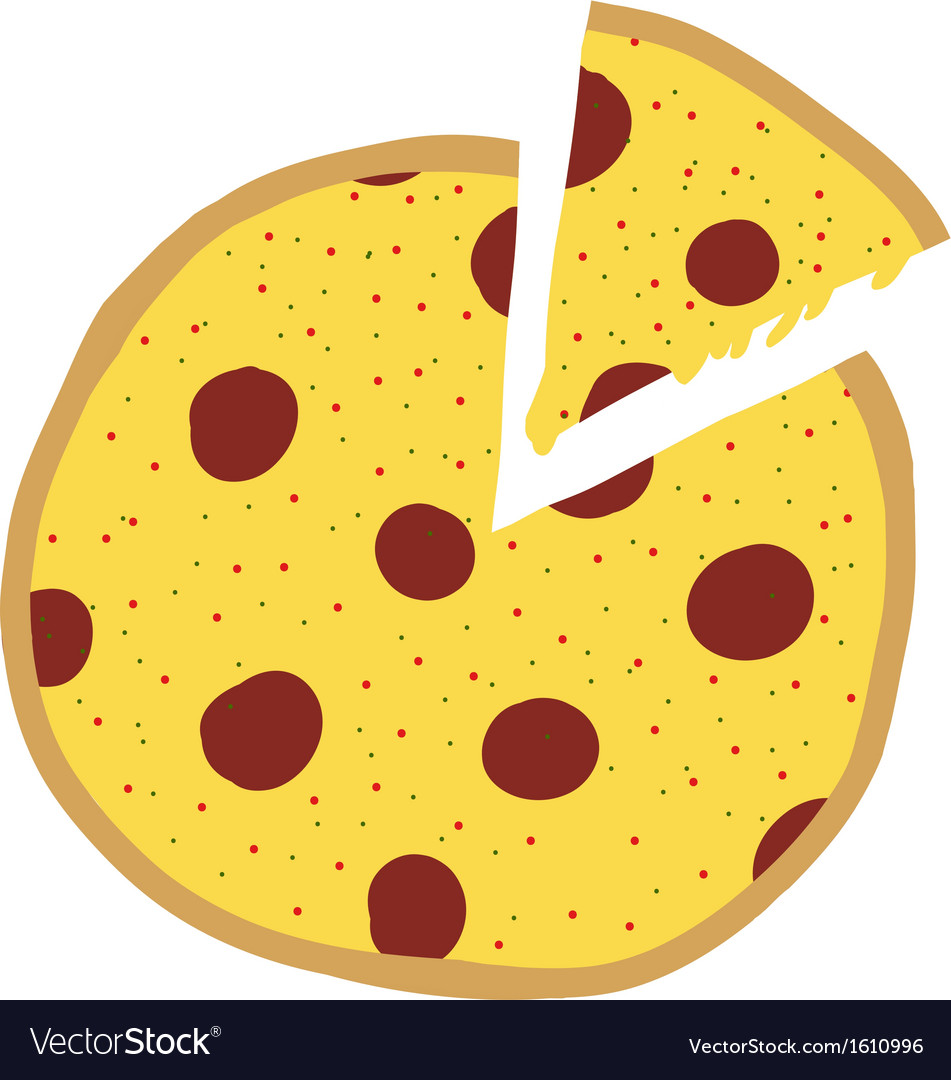 Pizza slices vector | Price: 1 Credit (USD $1)