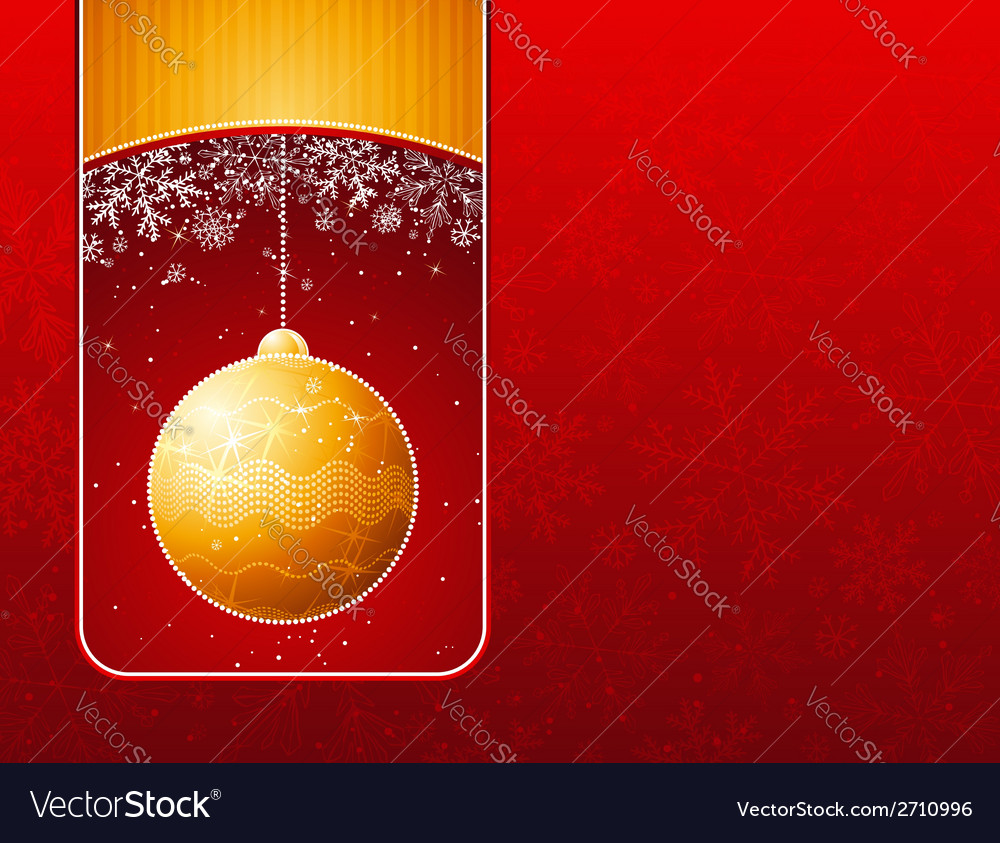 Red christmas background with golden balls vector | Price: 1 Credit (USD $1)