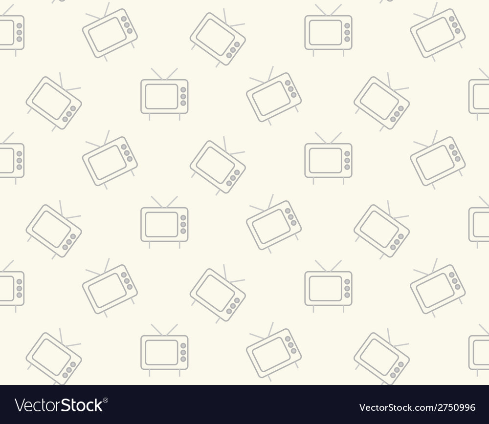 Seamless background with tv icons vector | Price: 1 Credit (USD $1)