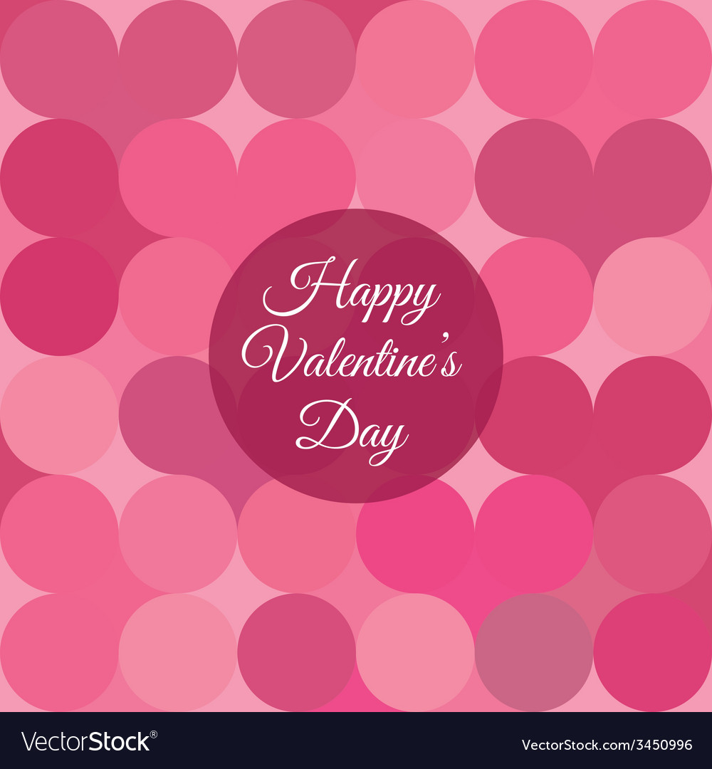 Valentines day card background vector | Price: 1 Credit (USD $1)