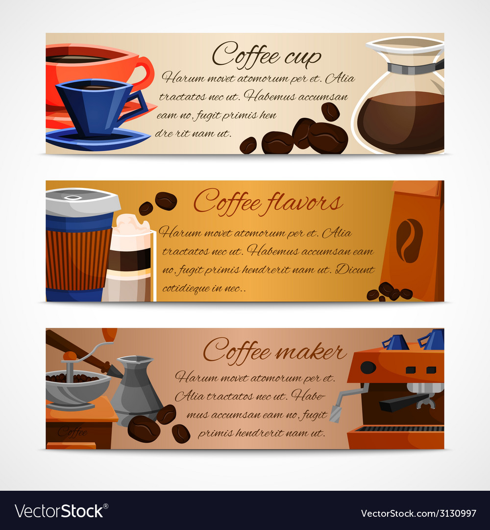 Coffee banners set vector | Price: 1 Credit (USD $1)