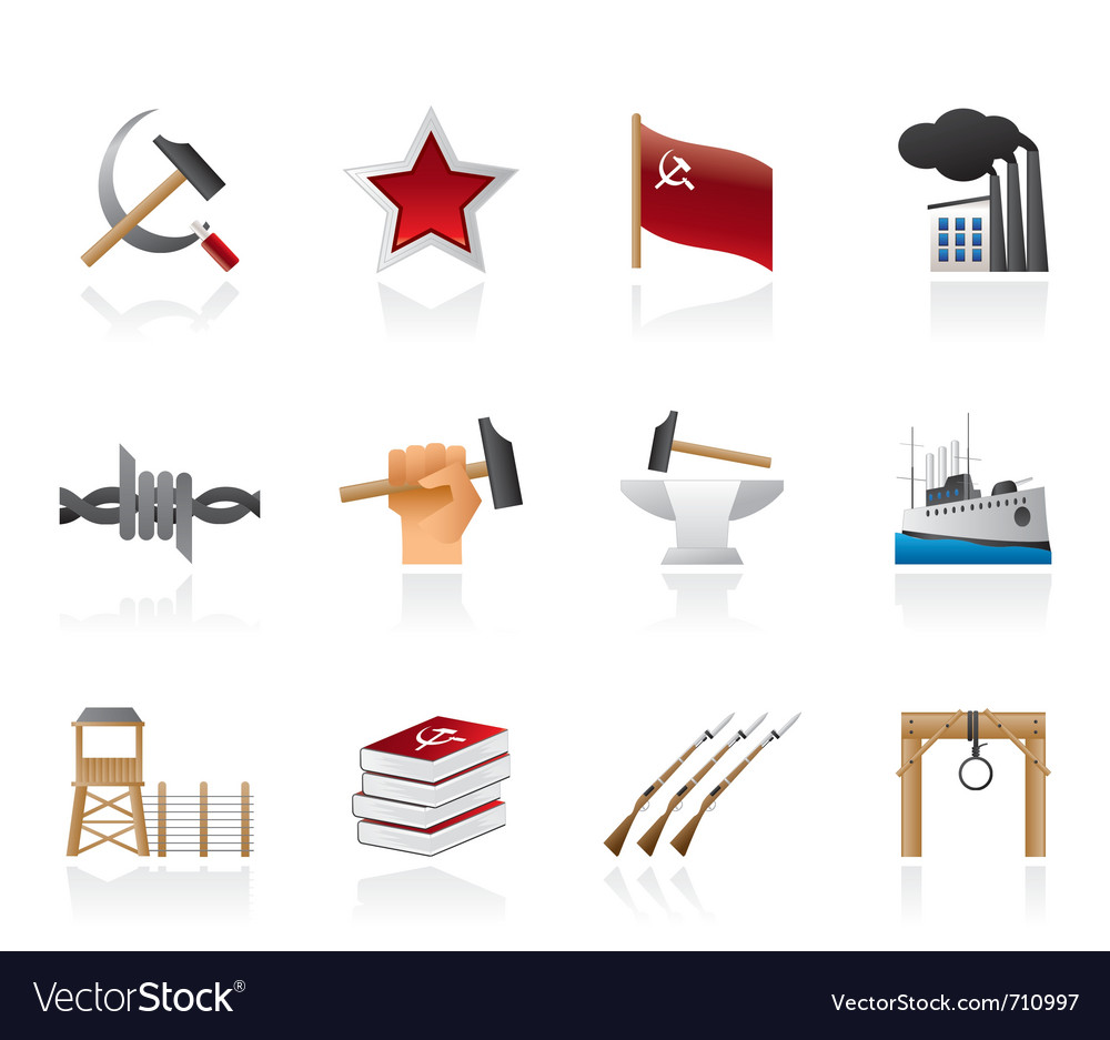 Communism and revolution icons vector | Price: 1 Credit (USD $1)