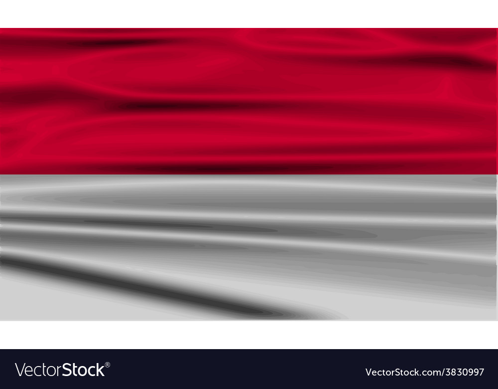 Flag of monaco with old texture vector | Price: 1 Credit (USD $1)