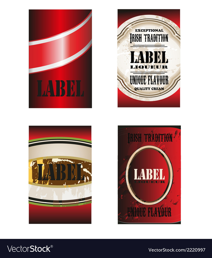 Label template vector | Price: 1 Credit (USD $1)