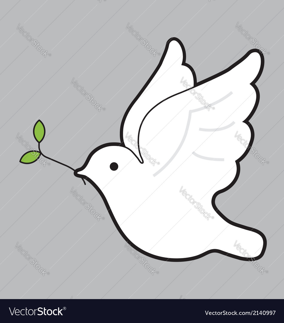 Peace dove with olive branch vector | Price: 1 Credit (USD $1)