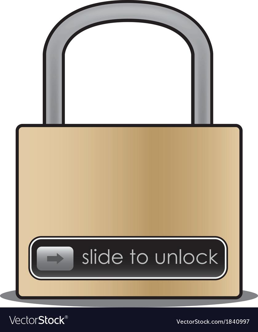 Slide to unlock vector | Price: 1 Credit (USD $1)
