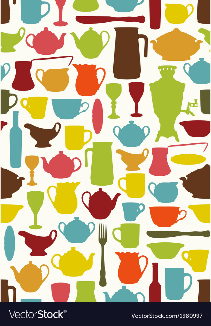 Tableware seamless vector | Price: 1 Credit (USD $1)