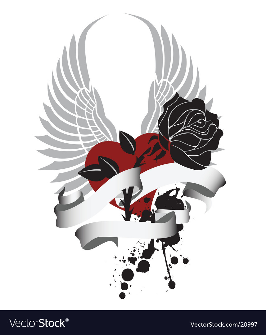 Valentine with rose vector | Price: 1 Credit (USD $1)