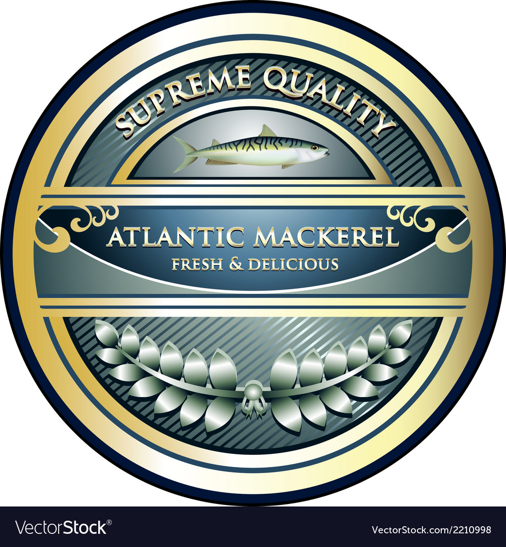 Atlantic mackerel label vector | Price: 1 Credit (USD $1)