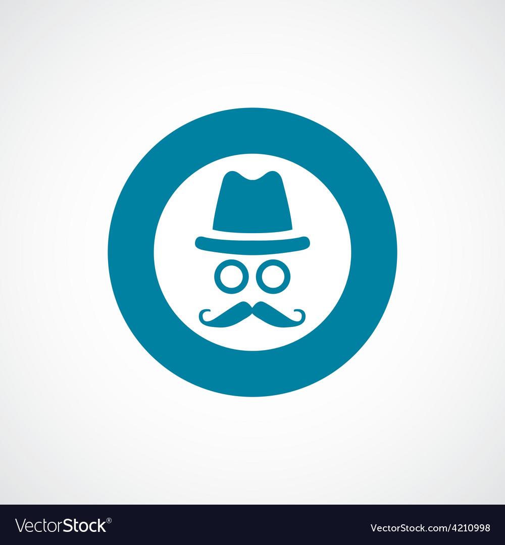 Barbershop icon bold blue circle border vector   Price: 1 Credit (USD $1)