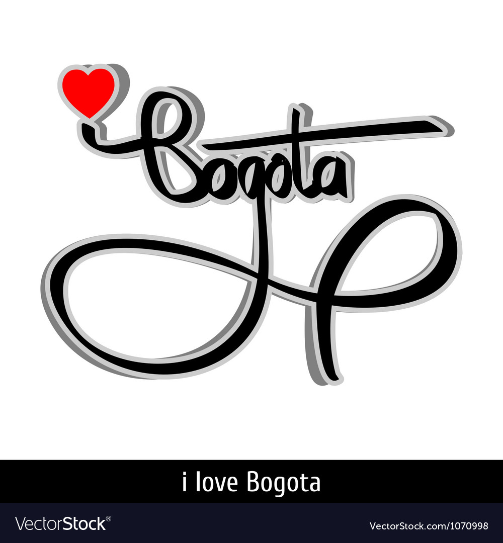 Bogota greetings hand lettering calligraphy vector | Price: 1 Credit (USD $1)