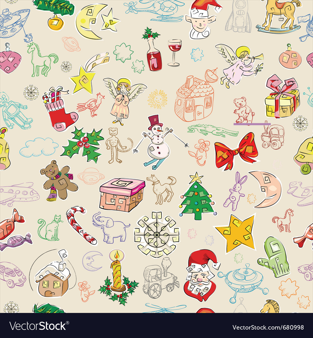 Christmas rich pattern vector | Price: 1 Credit (USD $1)