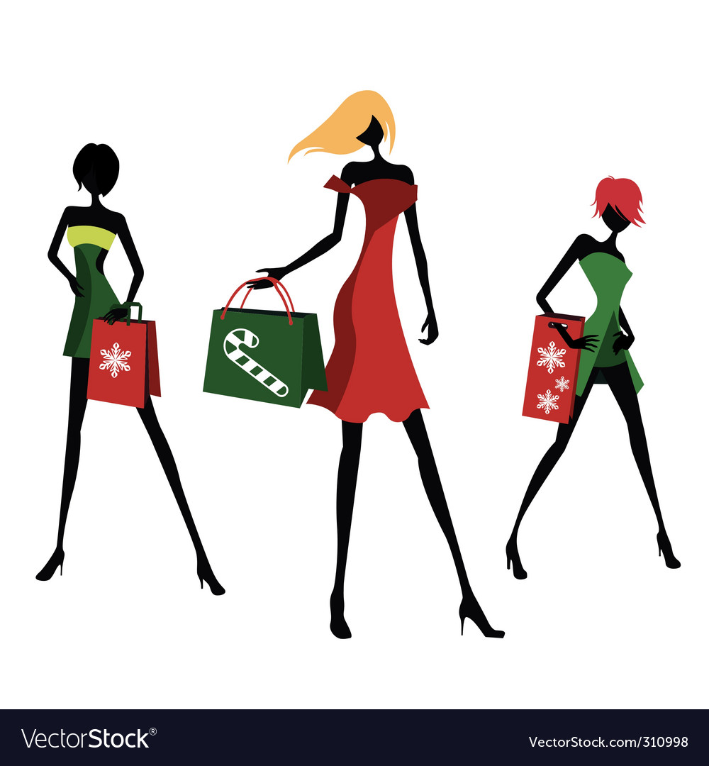 Christmas shopping vector | Price: 1 Credit (USD $1)