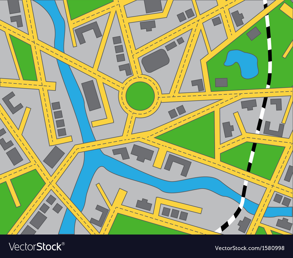 Editable map of the area vector | Price: 1 Credit (USD $1)