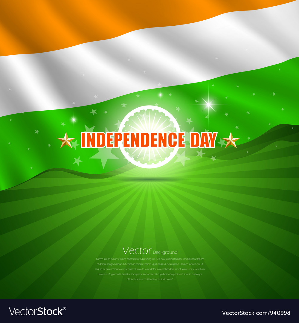Happy independence day india design background vector | Price: 1 Credit (USD $1)
