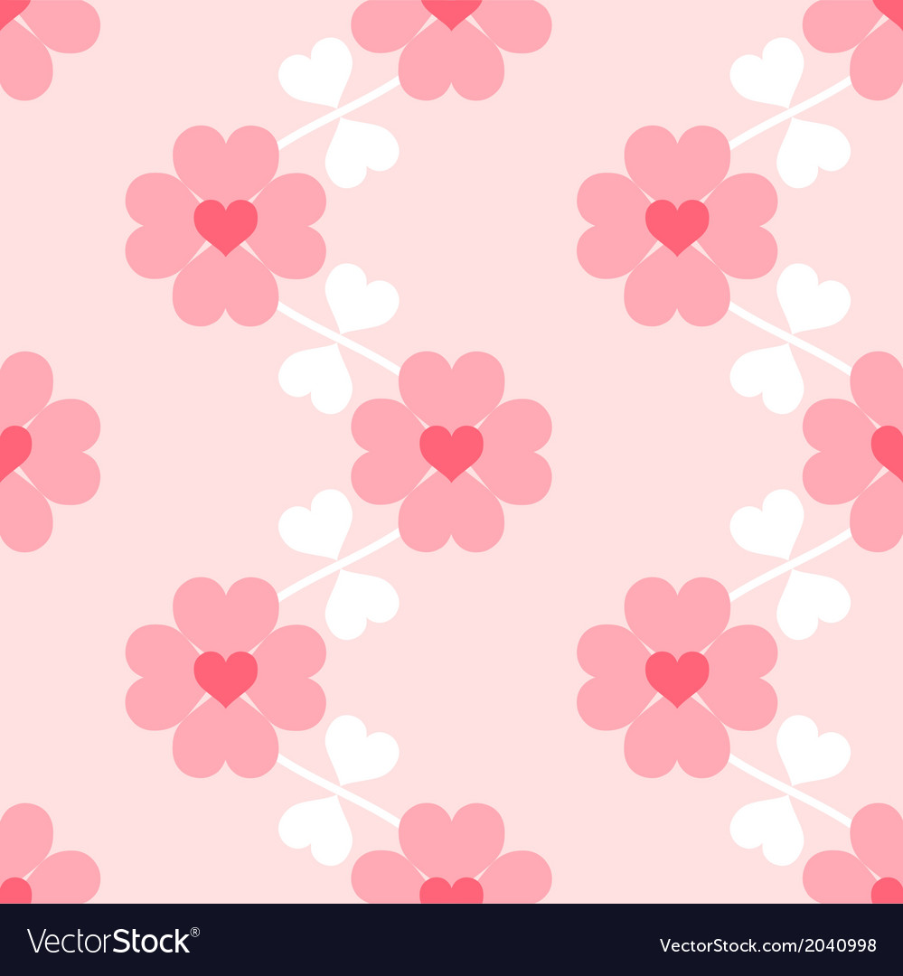 Heart flower soft seamless wallpaper vector | Price: 1 Credit (USD $1)