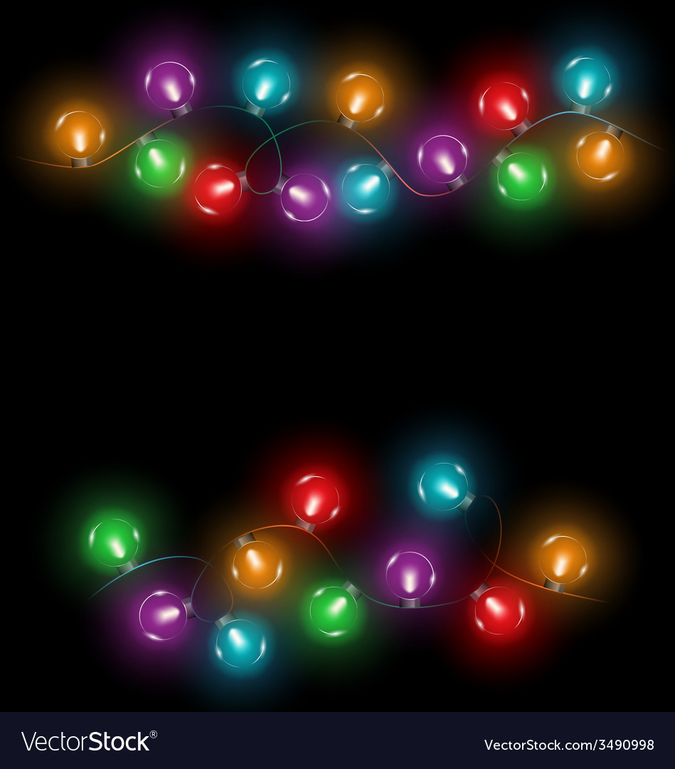 Led christmas lights on black vector | Price: 1 Credit (USD $1)
