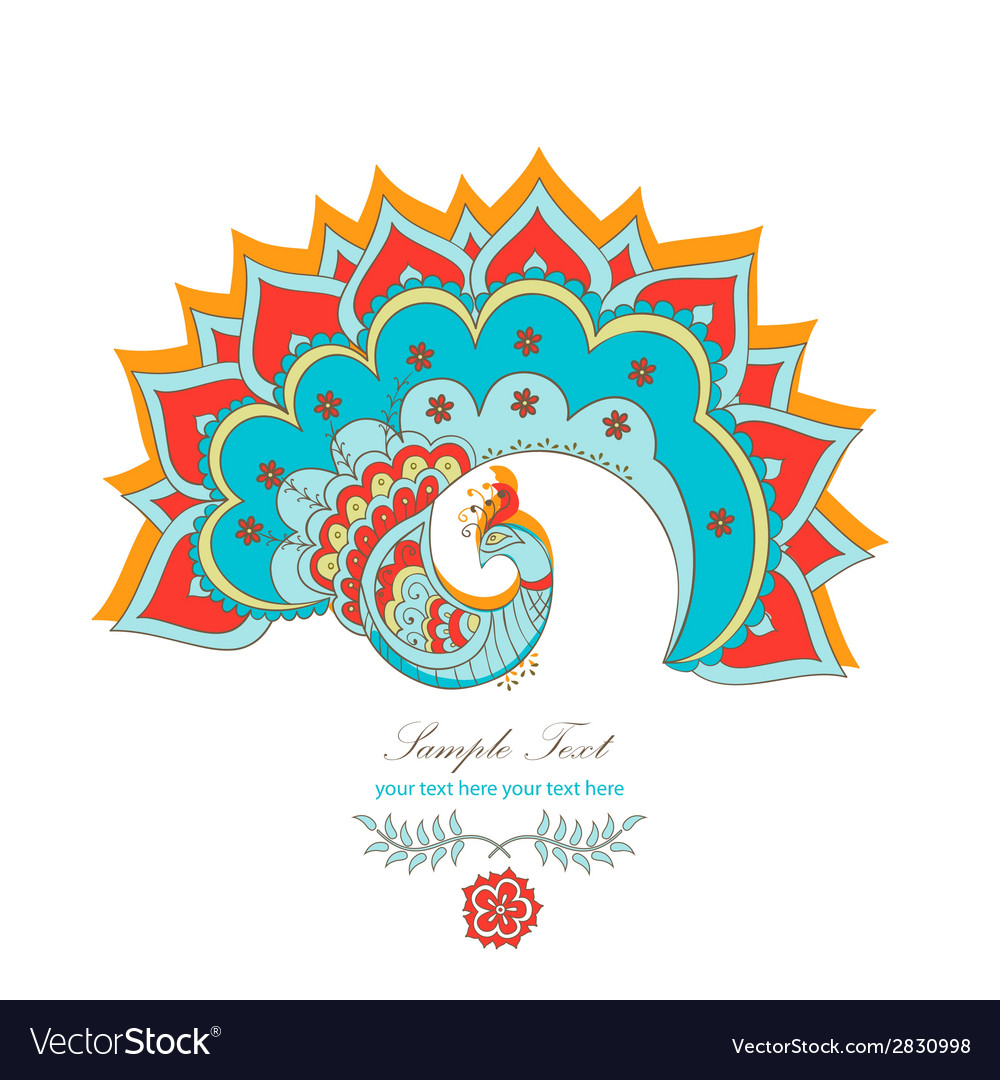 Magic decorative hindu peacock vector | Price: 1 Credit (USD $1)