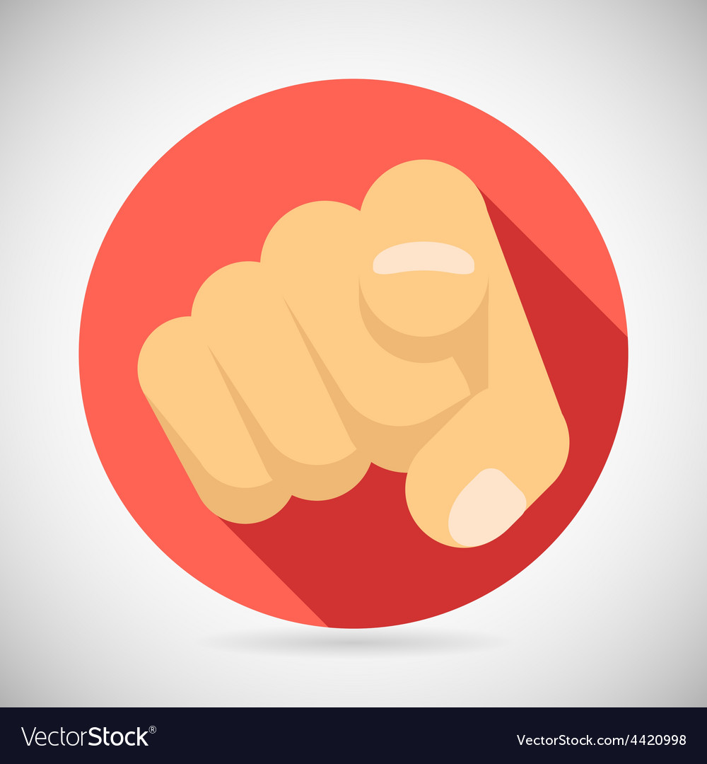 Pointing finger potential client politician vector | Price: 1 Credit (USD $1)