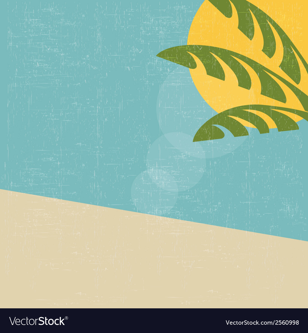 Retro summer landscape vector | Price: 1 Credit (USD $1)