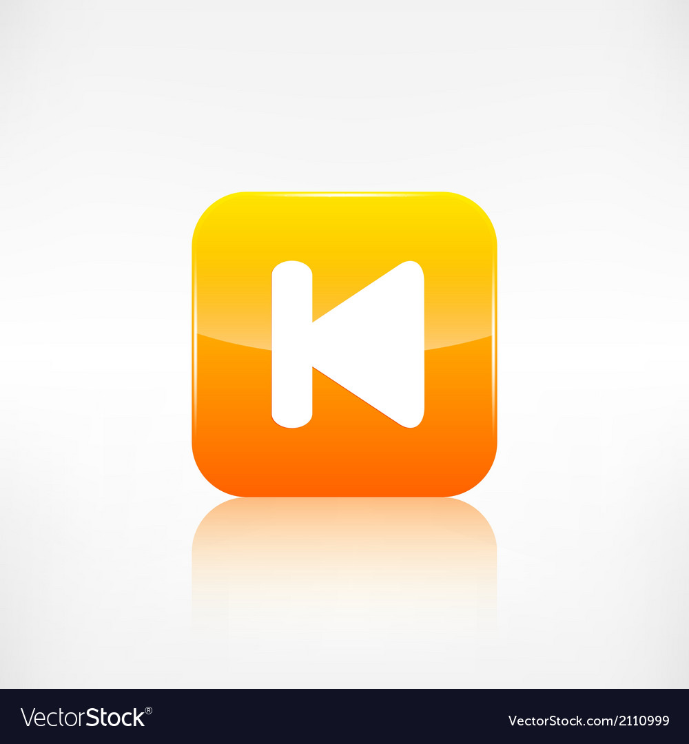 Back track web iconmedia player vector | Price: 1 Credit (USD $1)
