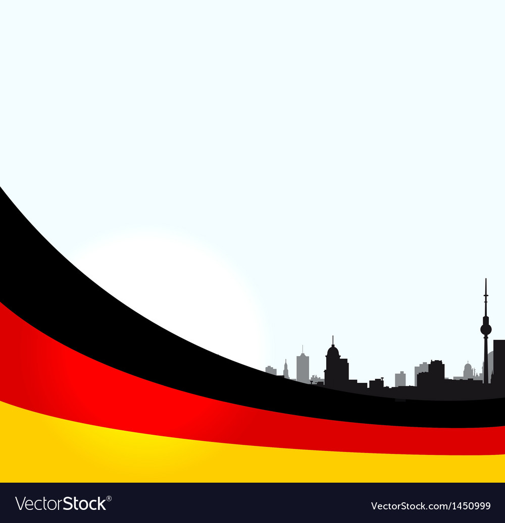 Berlin with german flag vector | Price: 1 Credit (USD $1)