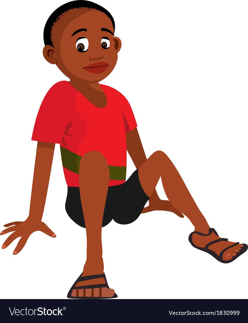 Boy sitting vector   Price: 1 Credit (USD $1)