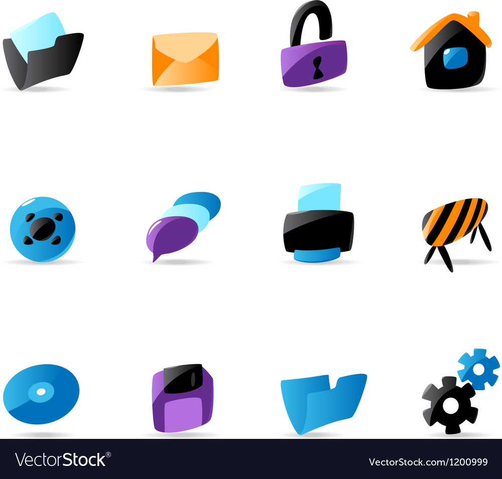 Bright website and interface icons vector | Price: 1 Credit (USD $1)