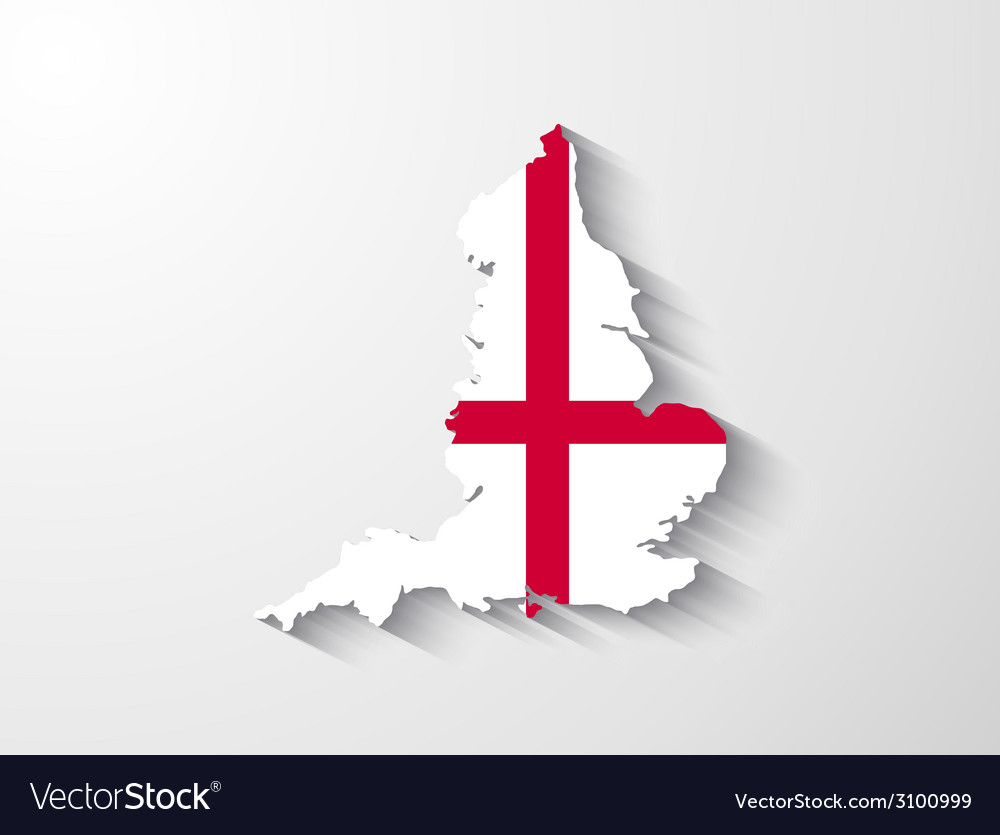 England map with shadow effect vector | Price: 1 Credit (USD $1)