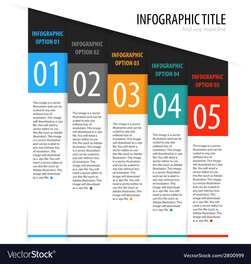 Flat vertical infographics options banner set vector | Price: 1 Credit (USD $1)