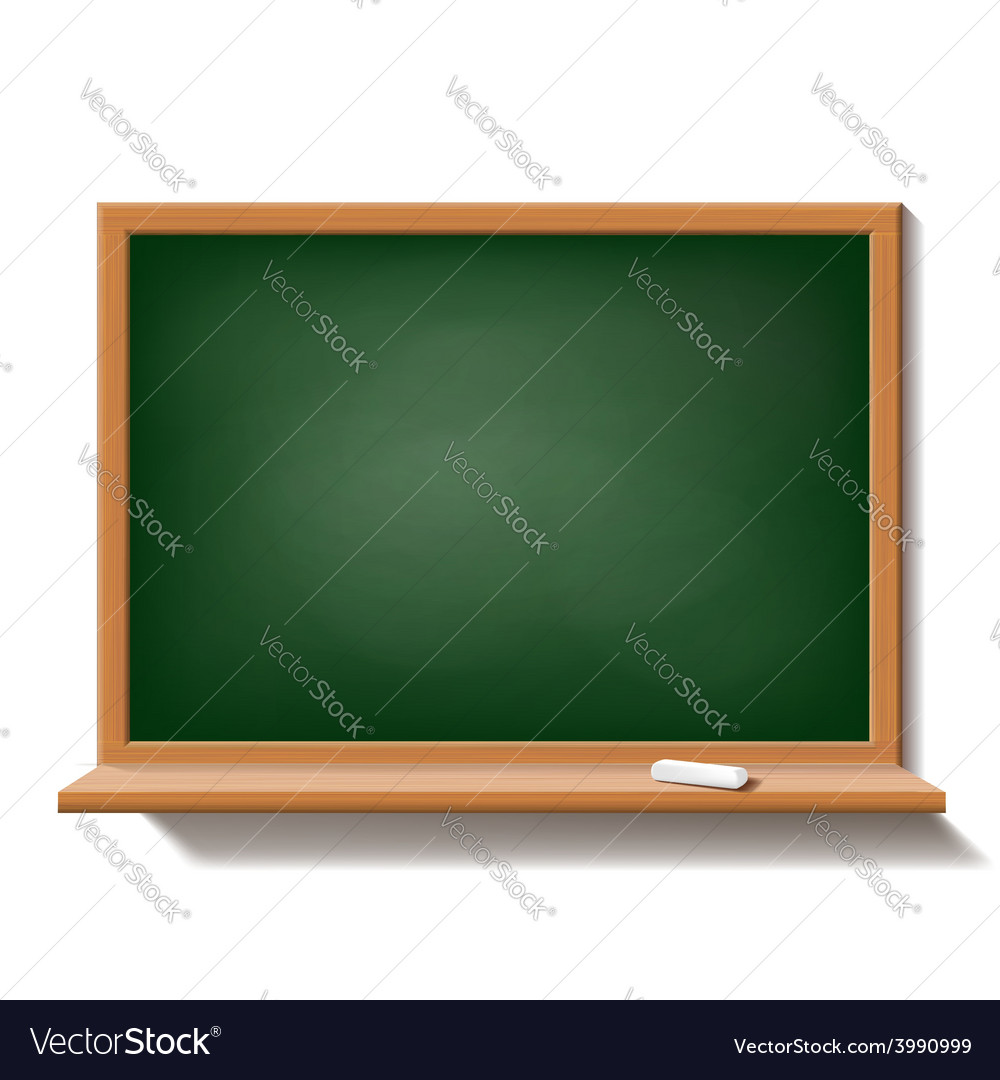 Green school board isolated on white background vector | Price: 1 Credit (USD $1)