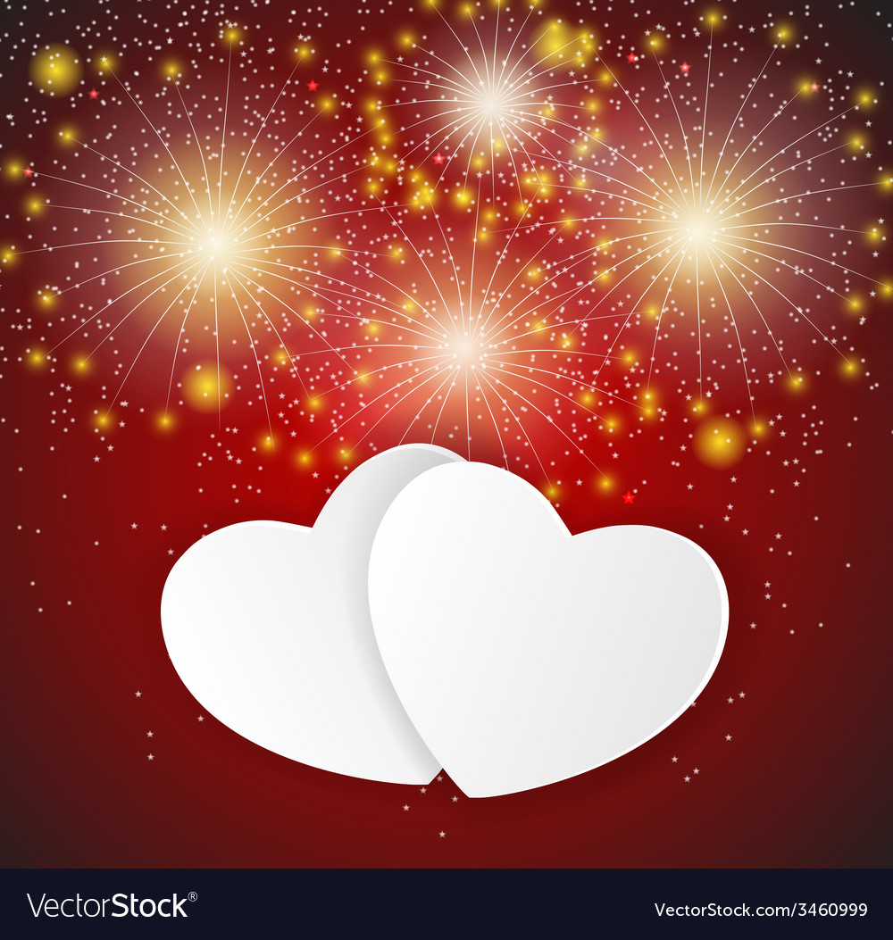 Happy valentines day card with heart vector | Price: 1 Credit (USD $1)