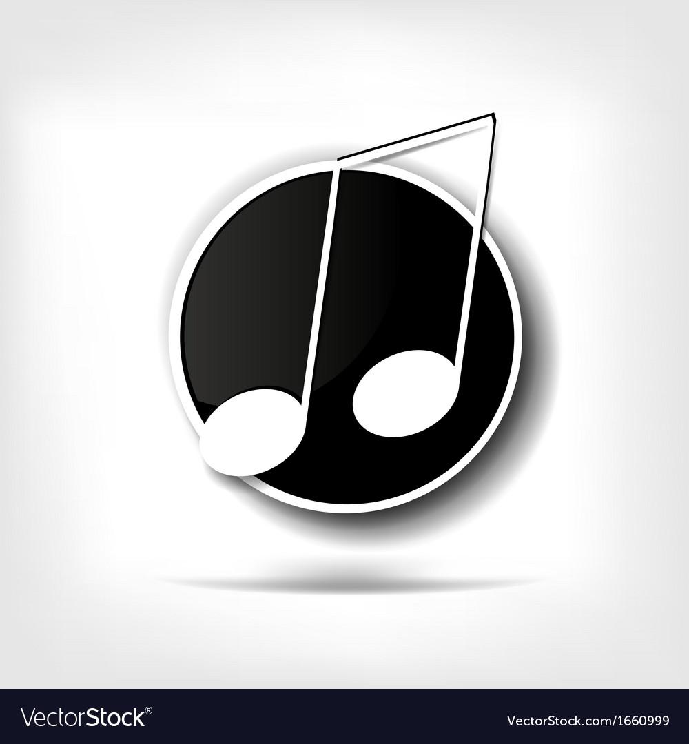 Music web icon vector | Price: 1 Credit (USD $1)