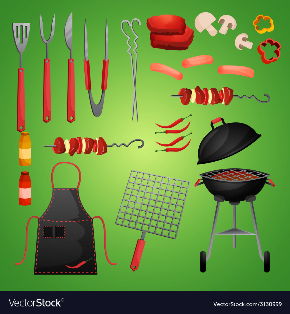 Picnic bbg set vector | Price: 1 Credit (USD $1)