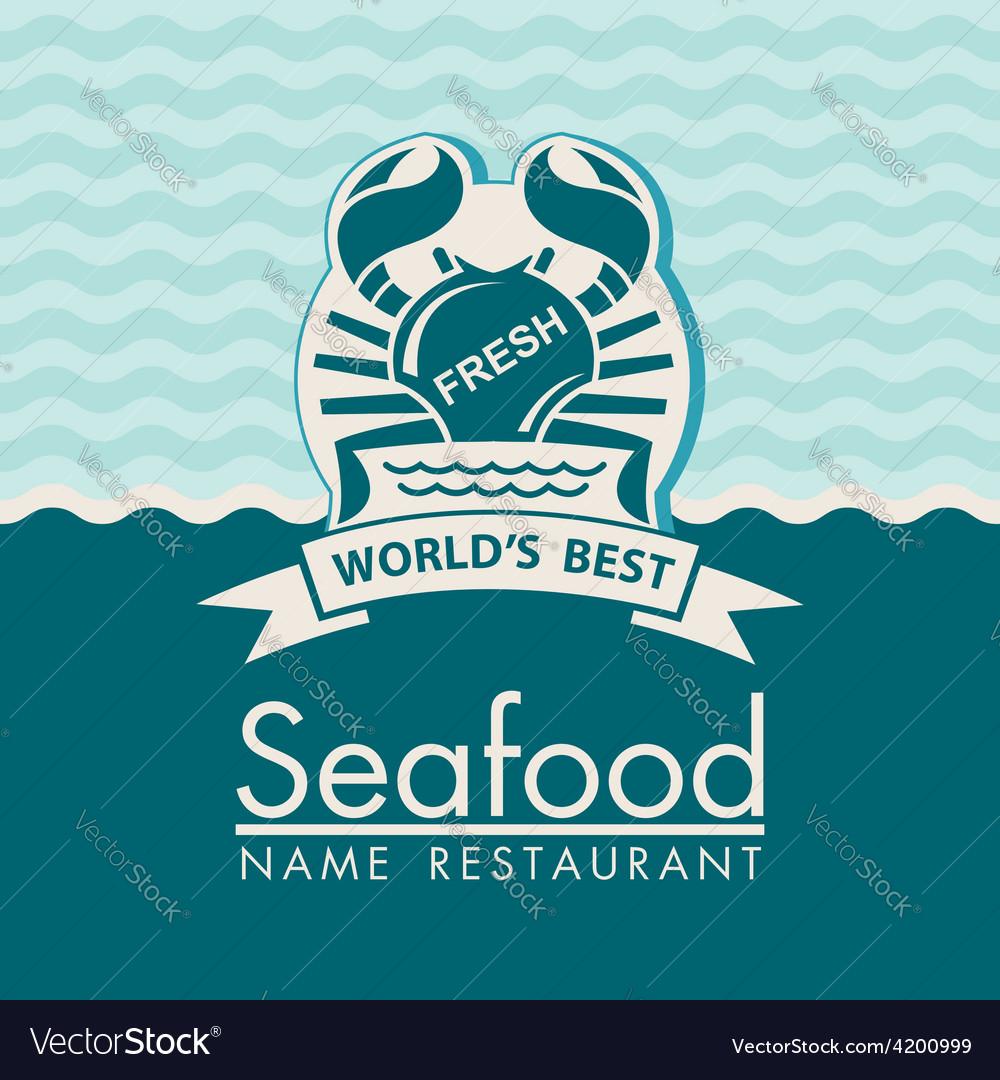 Seafood menu design vector   Price: 1 Credit (USD $1)