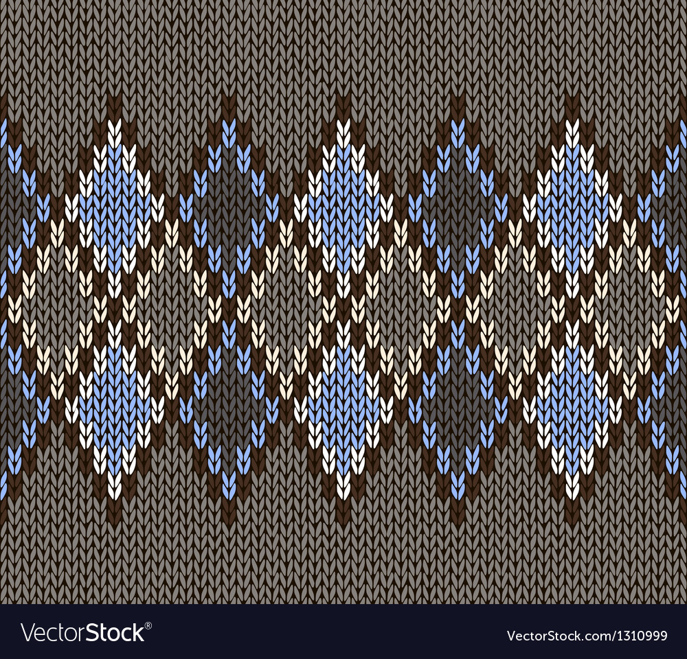 Seamless jacquard knitted pattern vector | Price: 1 Credit (USD $1)
