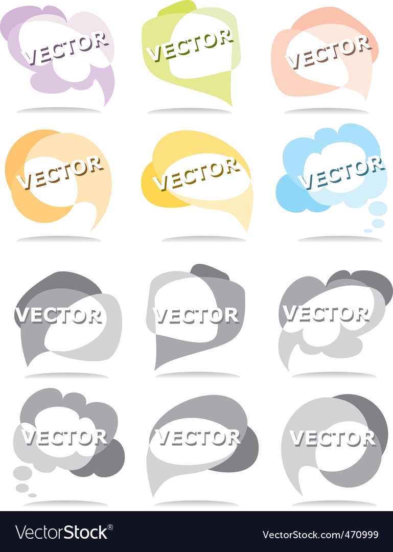 Set bubbles for speech vector | Price: 1 Credit (USD $1)