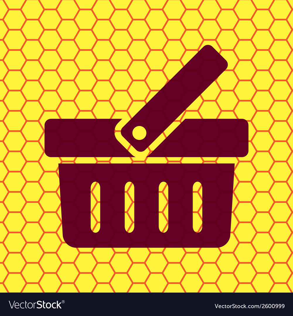 Shopping basket flat modern web button and space vector   Price: 1 Credit (USD $1)