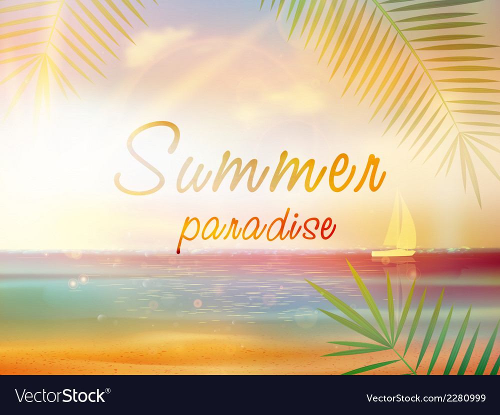 Summer time background with copyspace vector | Price: 1 Credit (USD $1)