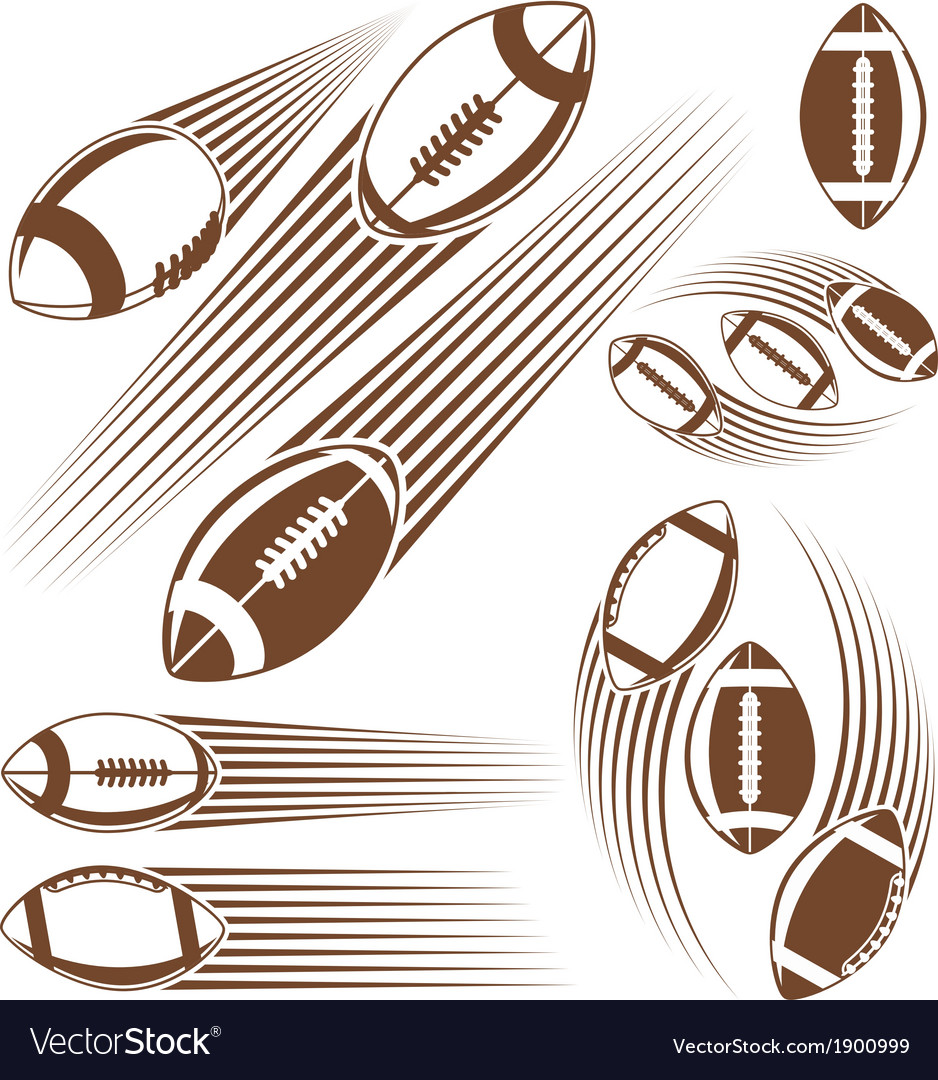Symbolic american football ball vector | Price: 1 Credit (USD $1)