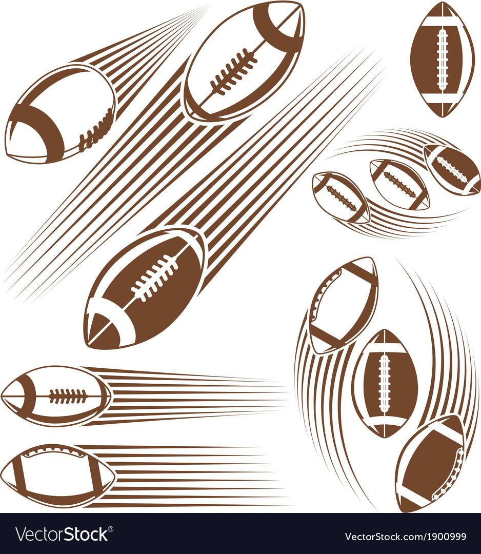 Symbolic american football ball vector | Price: 1 Credit (USD $1)