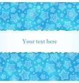 Blue hand-drawn snowflakes greetings card vector