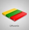 European flags set - lithuania vector