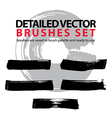 Brush strokes palette set of black hand-drawn vector