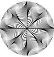 Design monochrome circular abstract background vector